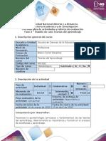 Guía de actividades y rúbrica de evaluación - Fase 3 - Estudio de caso Teorias de Aprendizaje