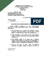 Sample Petition for Guardianship