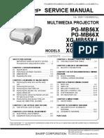 Sharp Projecor XG 55-65-x-V0D00039