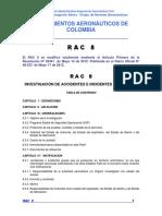 RAC  8 - Investigación de Accidentes e Incidentes de Aviación