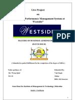 Study on performance management system at Westside
