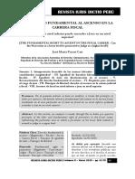 Derecho Fundamental Al Ascenso en La Carrera Fiscal - Autor José María Pacori Cari