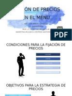 FIJACIÓN DE PRECIOS EN EL MENÚ
