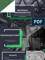 Materiales paramagnéticos