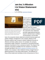 Amazon.com Inc.'s Mission Statement & Vision Statement (An Analysis) - Panmore Institute