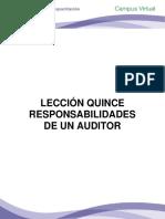 LECCIÓN QUINCE  RESPONSABILIDADES DE UN AUDITOR