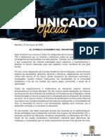 COMUNICADO CONSEJO ACADÉMICO (27 DE MARZO)
