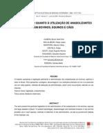 A LEGISLAÇÃO QUANTO À UTILIZAÇÃO DE ANABOLIZANTES , EM BOVINOS, EQUINOS E CÃES