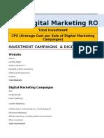 Digital Marketing ROI Calculator