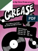 CCHS Drama - Grease Program