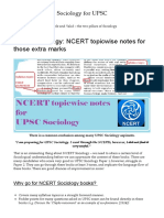 UPSC Sociology_ NCERT topicwise notes for those extra marks – Sociology for UPSC
