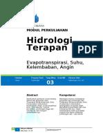 Hidrologi Terapan 3.1
