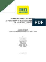 Tourism Plan for Gusaling Museo Sta. Rosa Laguna, Prt. 1