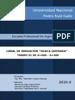 INFORME CANAL HUACA QUEMADA- MOCHUMI