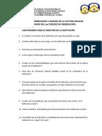CUESTIONARIOS DEL 1er  PERIODO DE OBSERVACIÓN