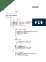 Coding Deret Angka