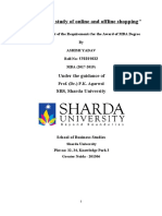 DISSERTATION report on Comparative study of online and offline shopping