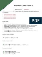 [CCNA] Cisco Commands Cheat Sheet #1