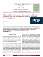Relationship between Consumer Characteristics and Impulse Buying Behavior_ The Mediating Role of Buying Intention of New Clothing Buyers[#355400]-367047.pdf