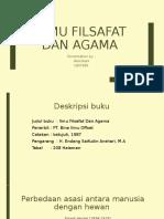 Ilmu filsafat dan agama book report