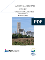 Dichiarazione Ambientale Complesso impiantistico di Via Raibano, Coriano (RN) - Aggiornamento 2017. HERAmbiente