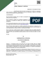 Mendoza oficializó la adhesión a la prórroga de la cuarentena