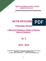ACTA ECCLESIAE 2.  Aprilie  fin      2017