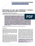 Performance by Layer upon Substitution of Soybean Meal with Mung Bean Protein Concentrate