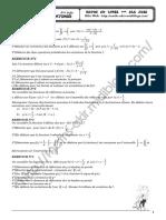 Série d'exercices - Math - Généralités sur les foncttions- 3ème SI