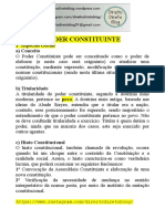 Apostila - Constitucional -  Poder Constituinte
