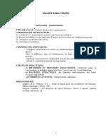 proiect didactic 3 franceza clasa 7