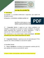 Apostila - Empresarial - Lei da SA (Lei 6.404.76)