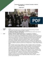 Sprawozdanie wizytacji kanonicznej 2008