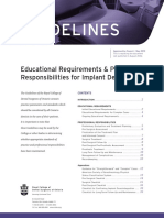 RCDSO Guidelines Implant Dentistry