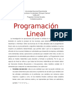 Ensayo PROGRAMACIÓN LINEAL