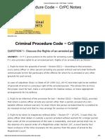 Criminal Procedure Code - CrPC Notes - LawOrdo