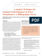 Dissolved gas analysis technique for incipient fault diagnosis in power transformers_ A bibliographic survey