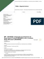 MP - SIGAESS- Integração de despesas do Easy Import Control (SIGAEIC) com o módulo Easy Siscoserv (SIGAESS) – Central de Atendimento TOTVS