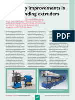 Efficiency improvements in compounding extruders