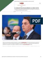 Oposição e Bolsonaro colocam troca de presidente na ordem do dia _ VEJA