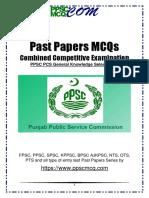 PCS-PPSC-Selection-001-Past-Paper