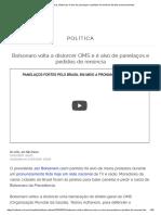 Coronavírus_ Bolsonaro é alvo de panelaços e pedidos de renúncia durante pronunciamento