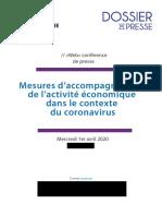 COVID-19 - Mesures d'accompagnement dans l'activité économique