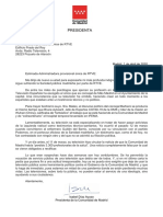 Carta Admin provisional única de RTVE