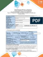 Guía de actividades y rubrica de evaluación - Fase 4 - Proponer Cuadro de Mando Integral con todos sus componentes