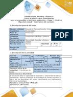 Guía de actividades y rúbrica de evaluación – Etapa 2 – Realizar mapa conceptual – Descripción del contexto