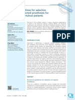 Numerical guidelines for selection of implant supported prostheses for completely edentulous patients