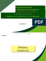 Medidas de localización y de variabilidad