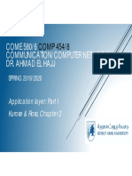 Application Layer-Part I