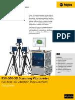 PSV-500-3D Scanning Vibrometer